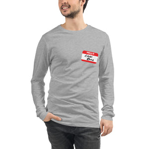 Crap Bag Name Tag Side Unisex Long Sleeve Tee