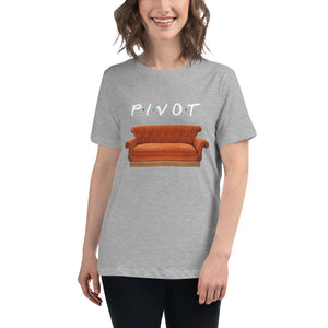 Pivot & Central Perk Couch Women's Relaxed T-Shirt