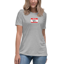 Load image into Gallery viewer, Crap Bag Name Tag Women's Relaxed T-Shirt