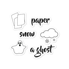 Load image into Gallery viewer, Paper Snow A Ghost! Bubble-free stickers