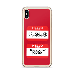 Ross's Name Tags iPhone Case