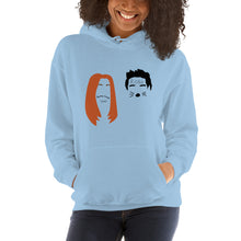 Load image into Gallery viewer, Ross and Rachel in Las Vegas Minimalist Faces Unisex Hoodie