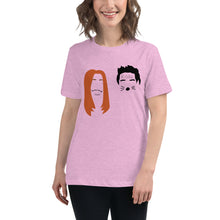 Load image into Gallery viewer, Ross and Rachel in Las Vegas Minimalist Faces Women's Relaxed T-Shirt