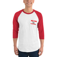 Load image into Gallery viewer, Crap Bag Name Tag Side 3/4 sleeve raglan shirt