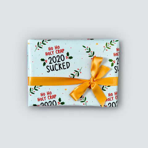 2020 Sucked Christmas Wrapping Paper
