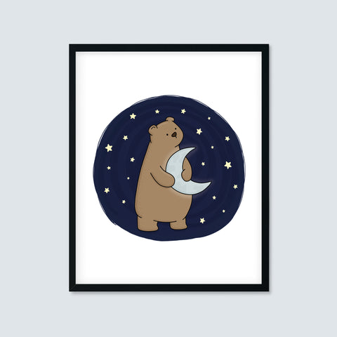 Bear Holding the Moon Print