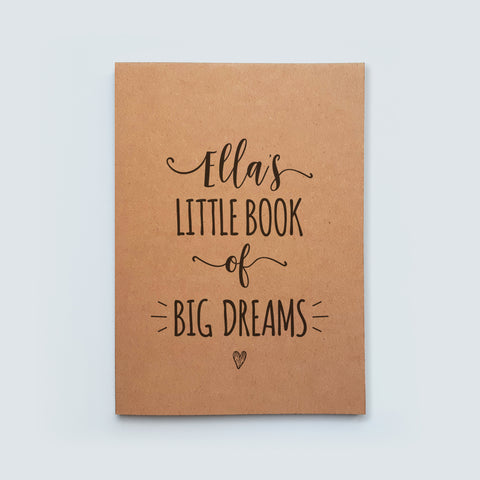Personalised Little Book of Big Dreams Notebook