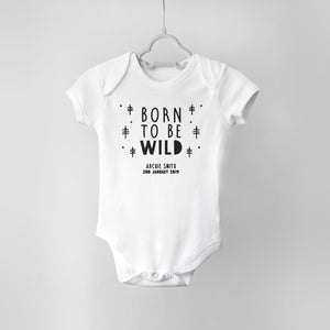 Born to be Wild Personalised Baby Bodysuit