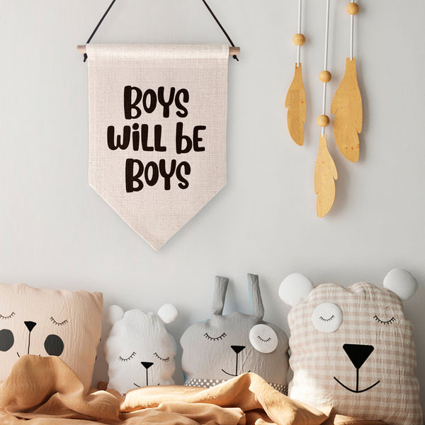 Boys Will be Boys Wall Hanging