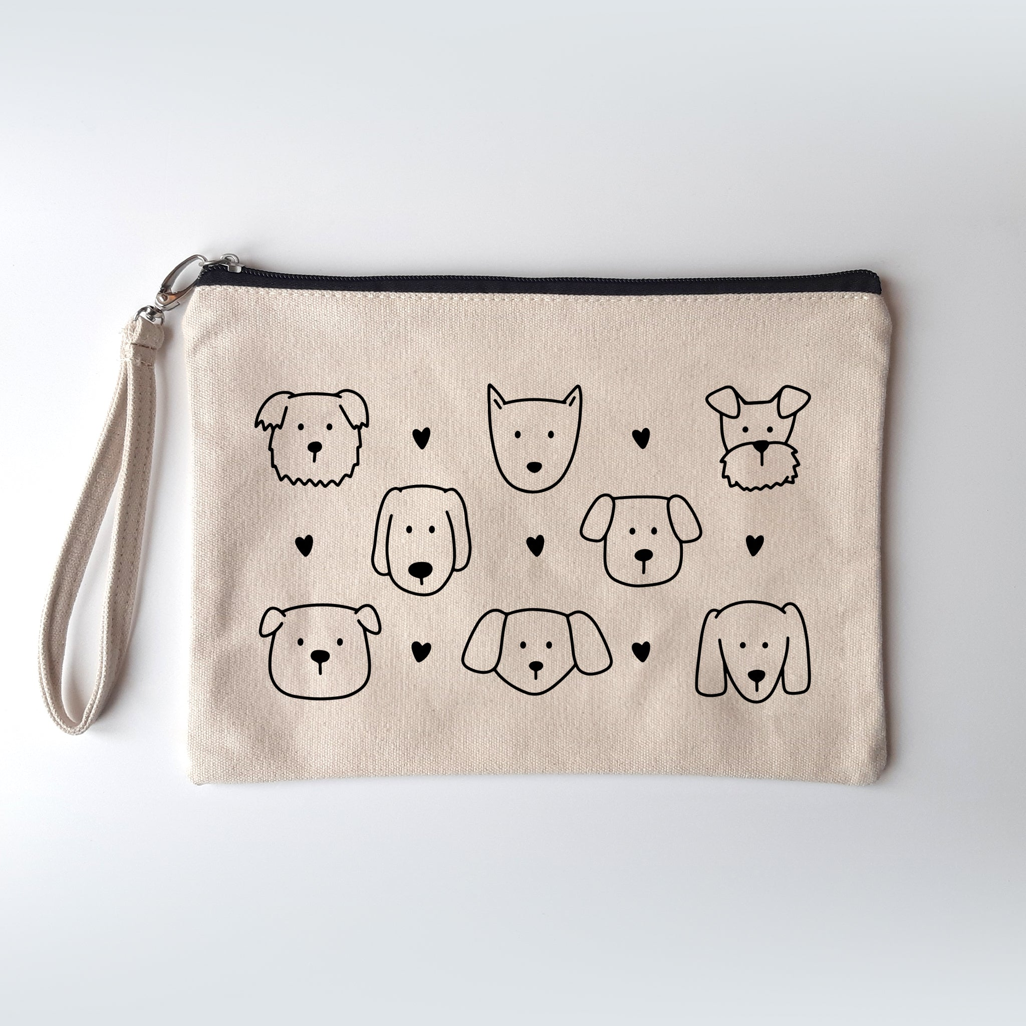 Dog Pattern Canvas Pouch