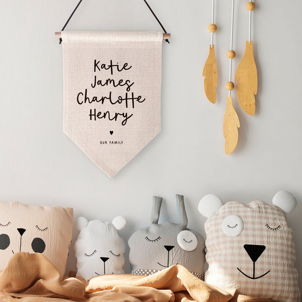 Our Family Personalised Wall Hanging