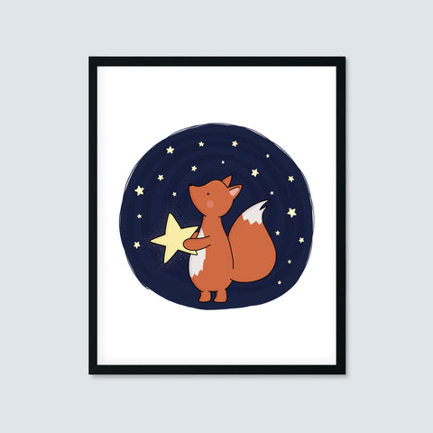 Fox Catching Stars Print