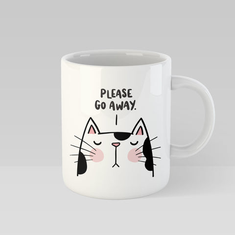 Please Go Away Sassy Cat Mug