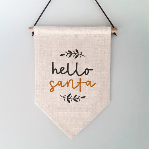 Hello Santa Christmas Wall Hanging