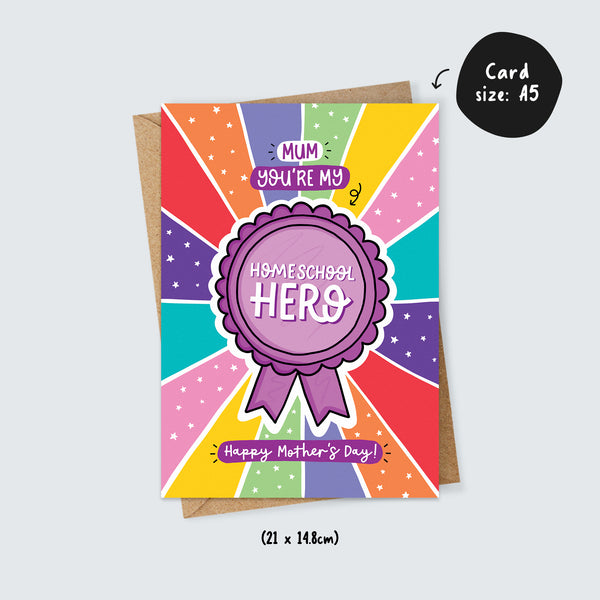 Homeschool Hero Mother's Day Card