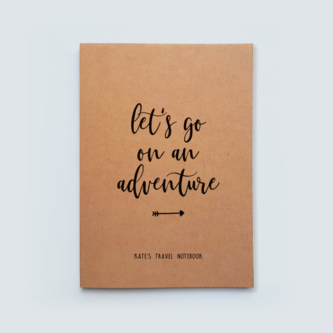 Personalised Adventure Travel Notebook