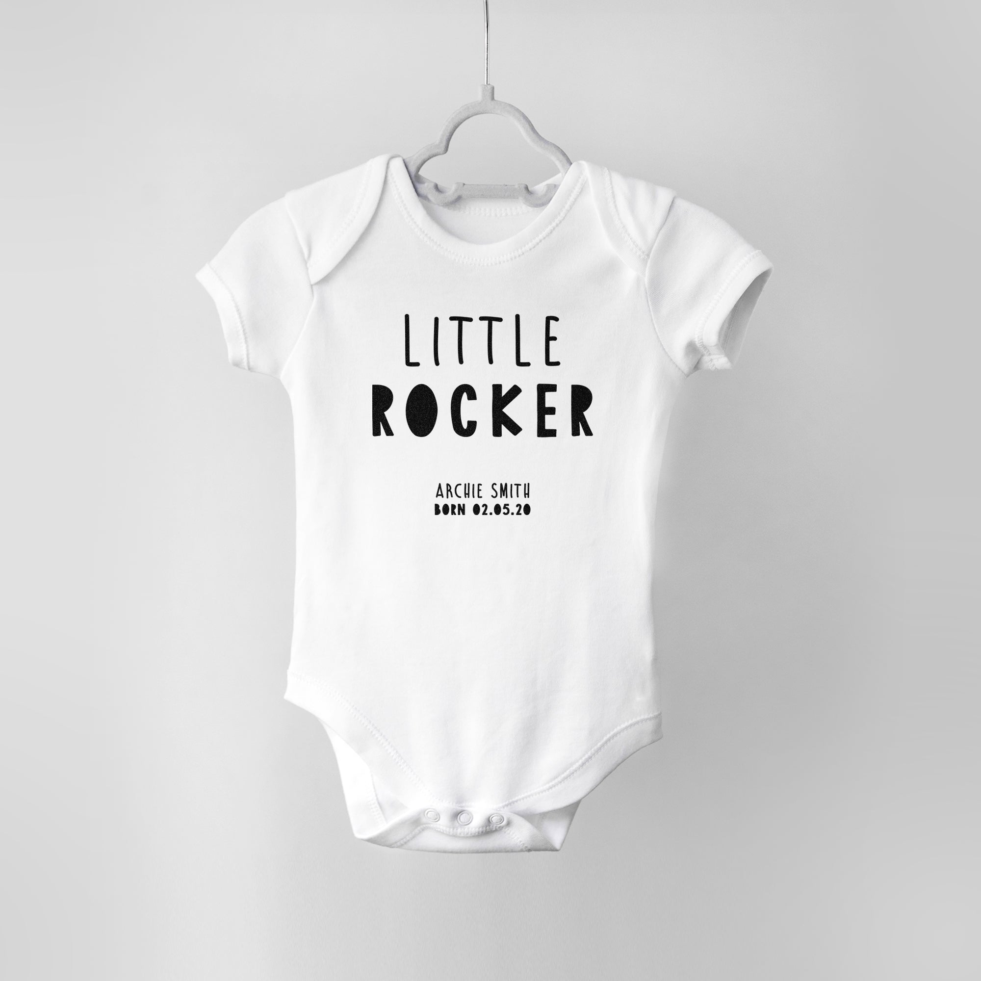 Little Rocker Personalised Baby Bodysuit