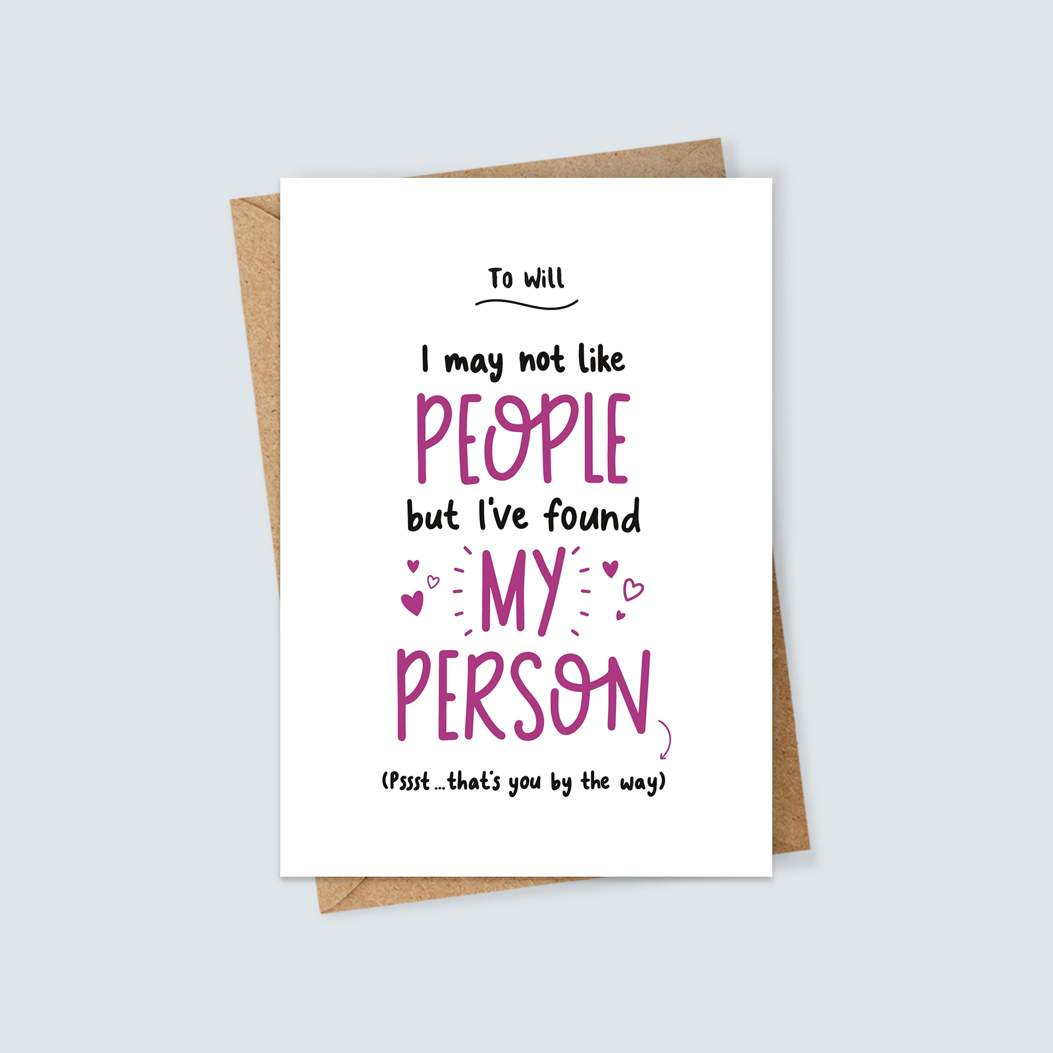 Personalised My Person Card