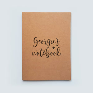 Personalised Calligraphy Name Notebook