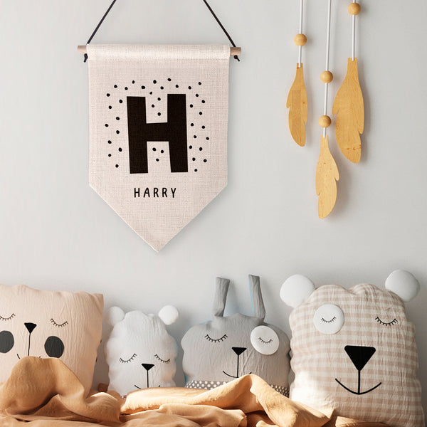 Children's Initial and Name Wall Hanging