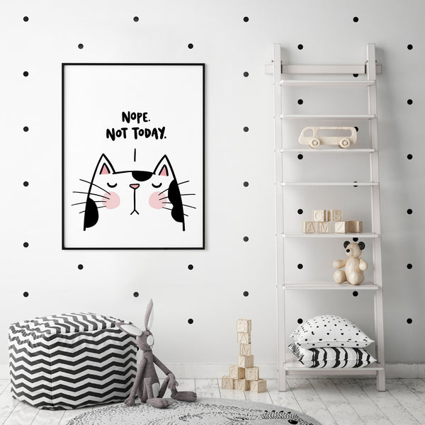 Sassy Cat Nope Not Today Print