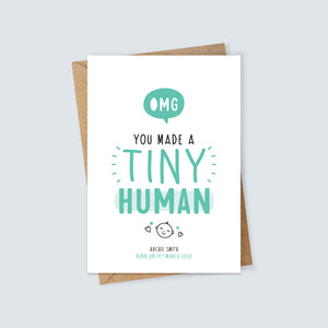 OMG You Made a Tiny Human Card
