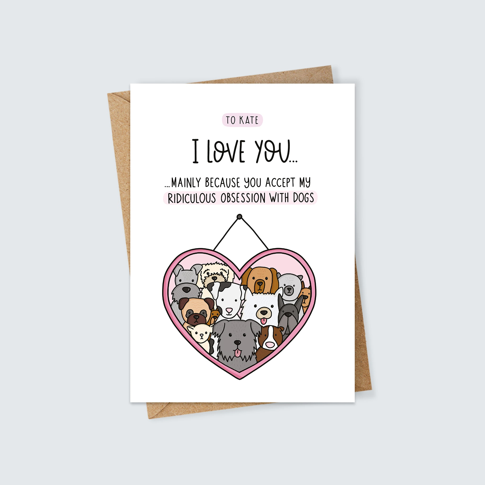 Personalised Dog Lover Card