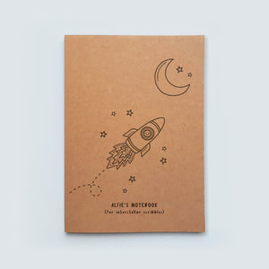 Personalised Rocket Notebook