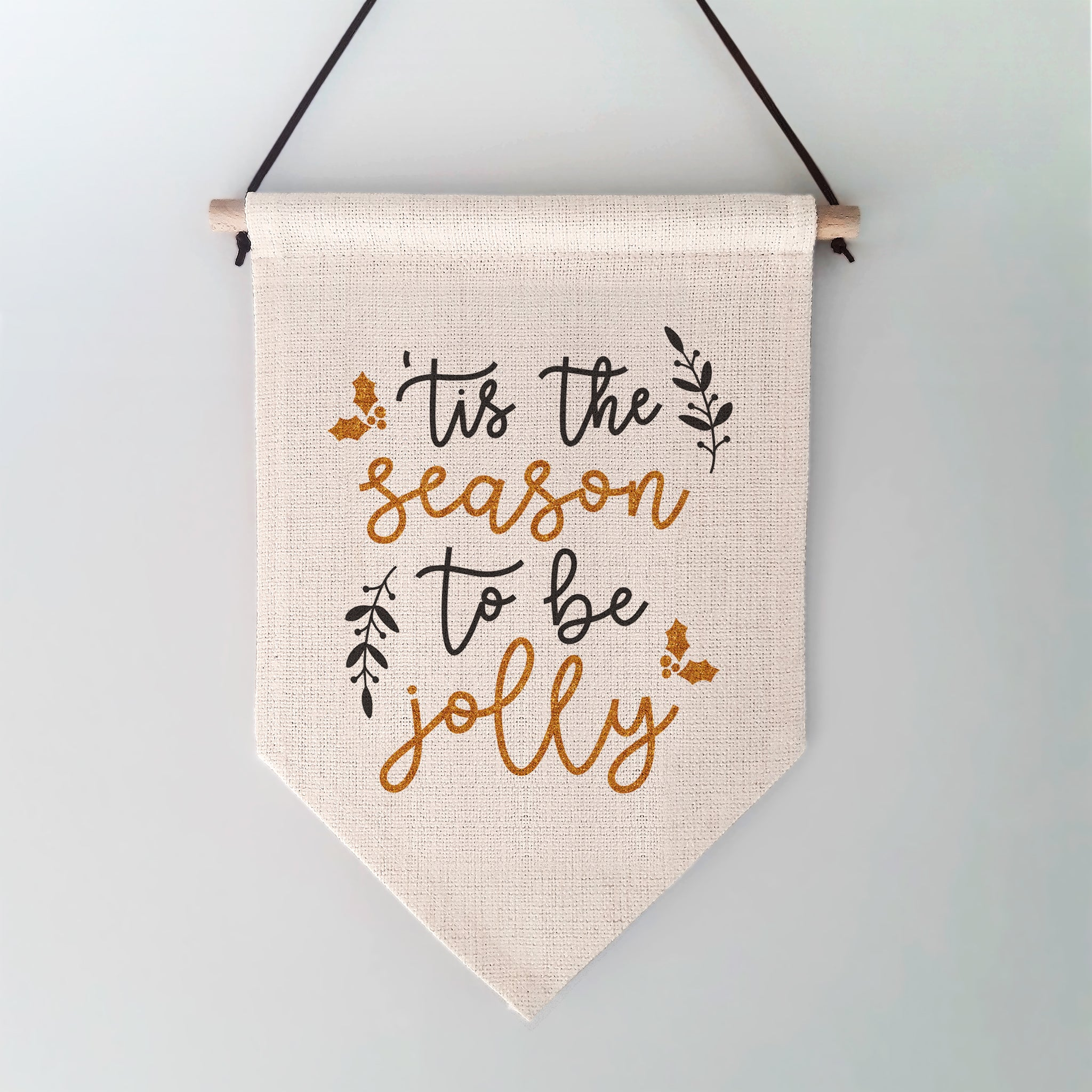 Tis' the Season to be Jolly Christmas Wall Hanging