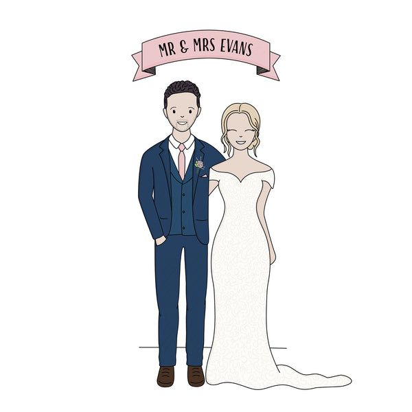 Printable Custom Wedding Portrait