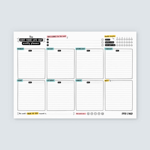A4 Sort Your Life Out Weekly Planner Notepad