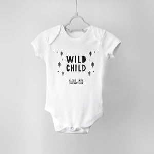 Wild Child Personalised Baby Bodysuit