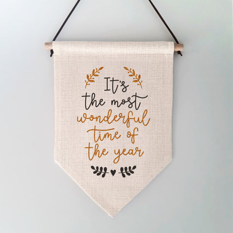 Most Wonderful Time of the Year Christmas Wall Hanging