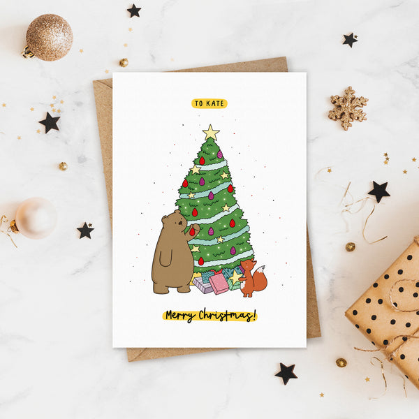 Woodland Animal Christmas Card