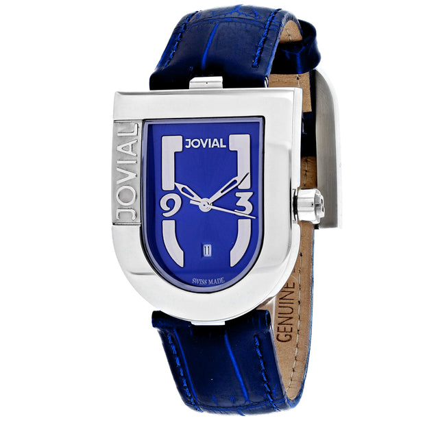 Jovial Women's Classic Blue Dial Watch - 06406-MSL-03