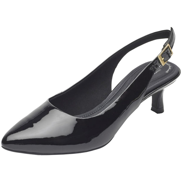 Kaiya  Womens Patent Leather Pointed Toe Slingback Heels