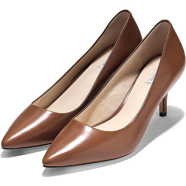 Cole Haan Womens Vesta Leather Pointed Toe Pumps