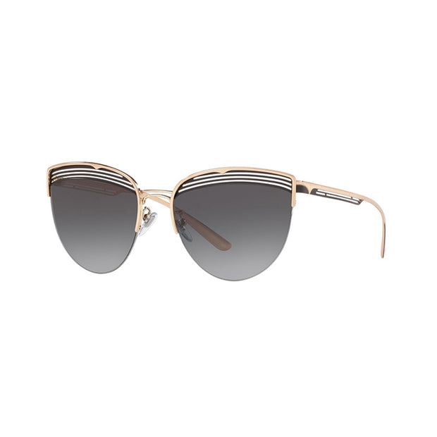 BVLGARI Cat-Eye BV6118 Sunglasses Pink Gold/Black