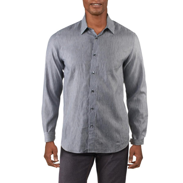 Irving Mens Linen Striped Casual Shirt