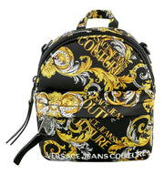 Versace Jeans Couture Baroque Black/Gold  Small Backpack/Shoulder Bag
