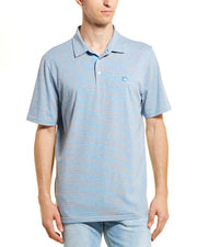 Southern Tide Channel Marker Striped Polo
