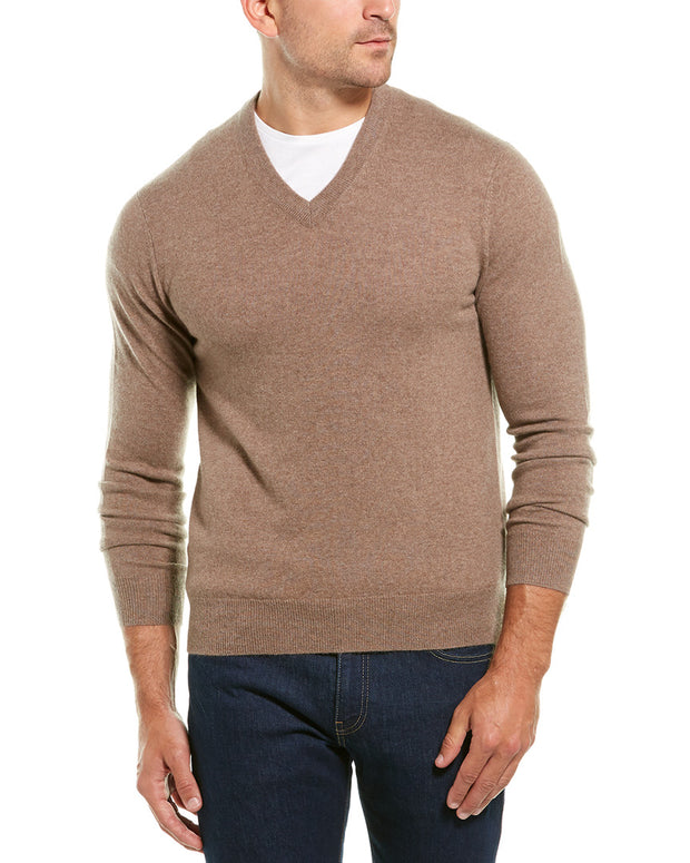 Qi V-Neck Cashmere Sweater