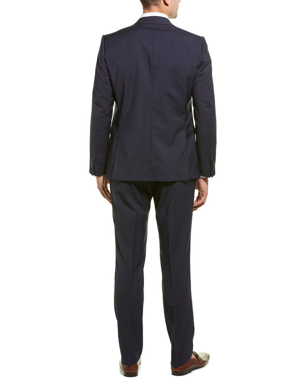 Z Zegna Wool Suit With Flat Front Pant