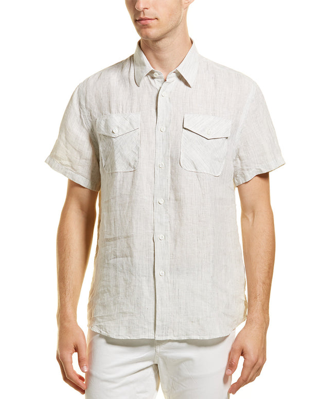 Billy Reid Graham Standard Fit Linen Woven Shirt