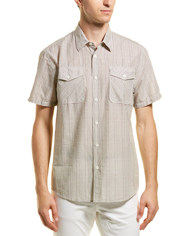 Billy Reid Graham Standard Fit Woven Shirt