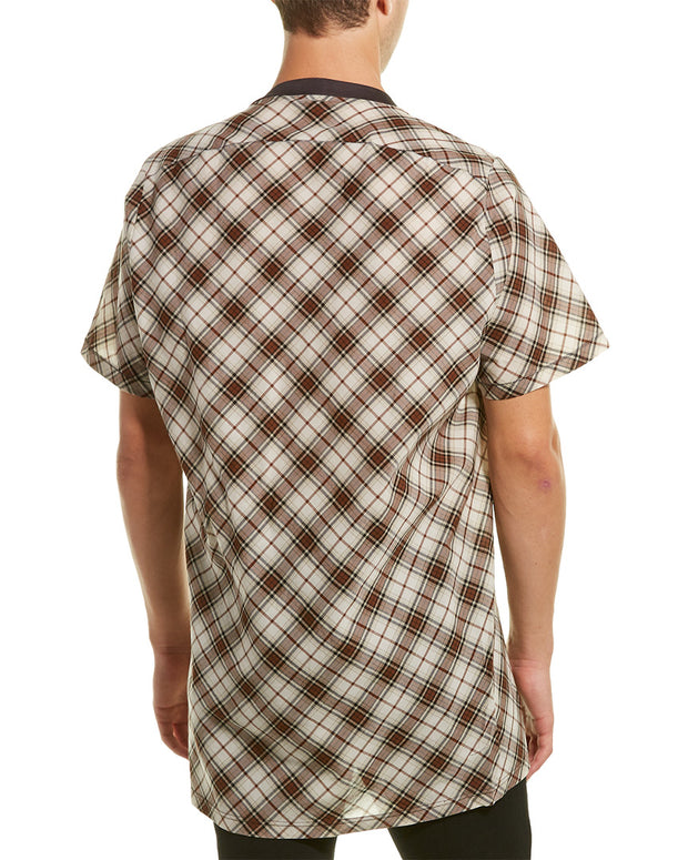Lanvin Long Checked T-Shirt