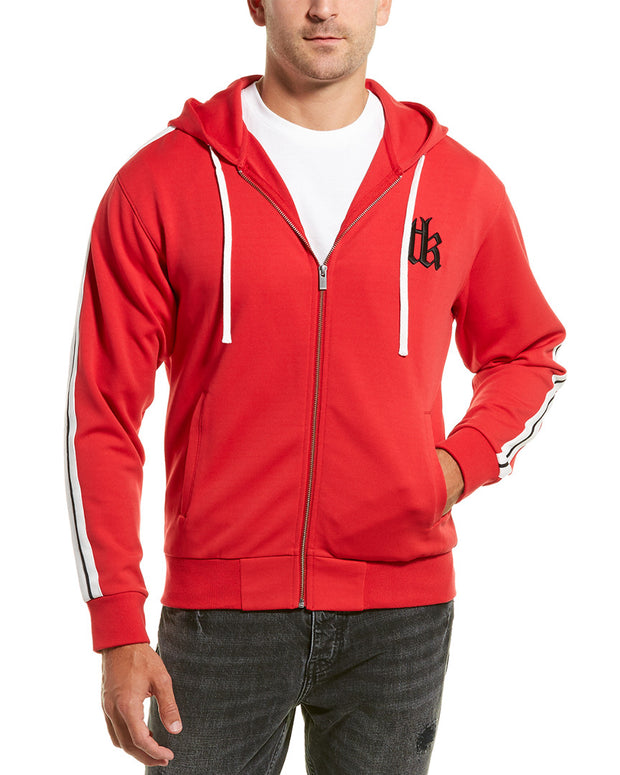 The Kooples Sport Vintage Fleece & Band Hoodie