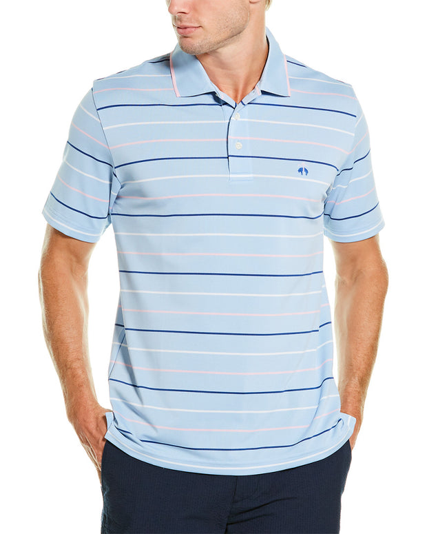 Brooks Brothers Striped Pique Polo Shirt