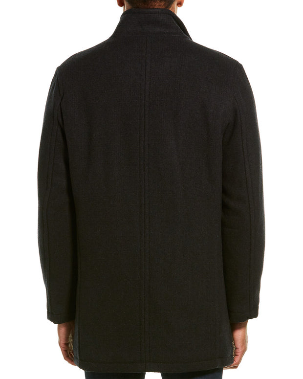 Cole Haan Classic Stand Collar Wool-Blend Coat
