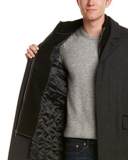 Cole Haan Twill Wool-Blend Coat
